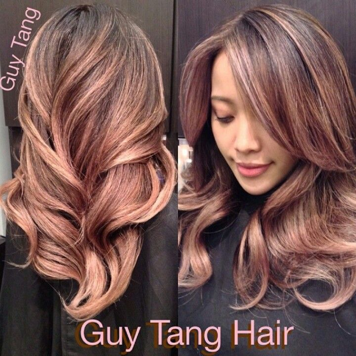 Pink colored ombre hair