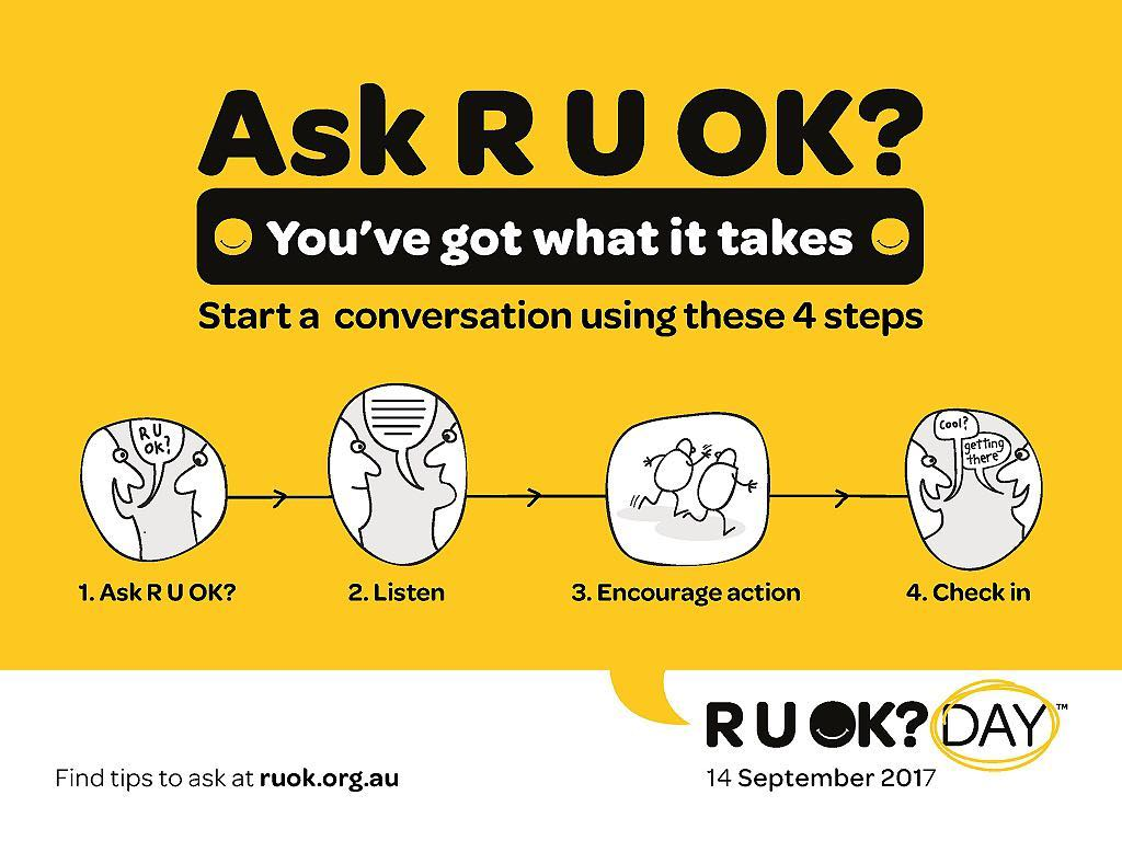 Today is RUOK Day A reminder to reach out andhellip