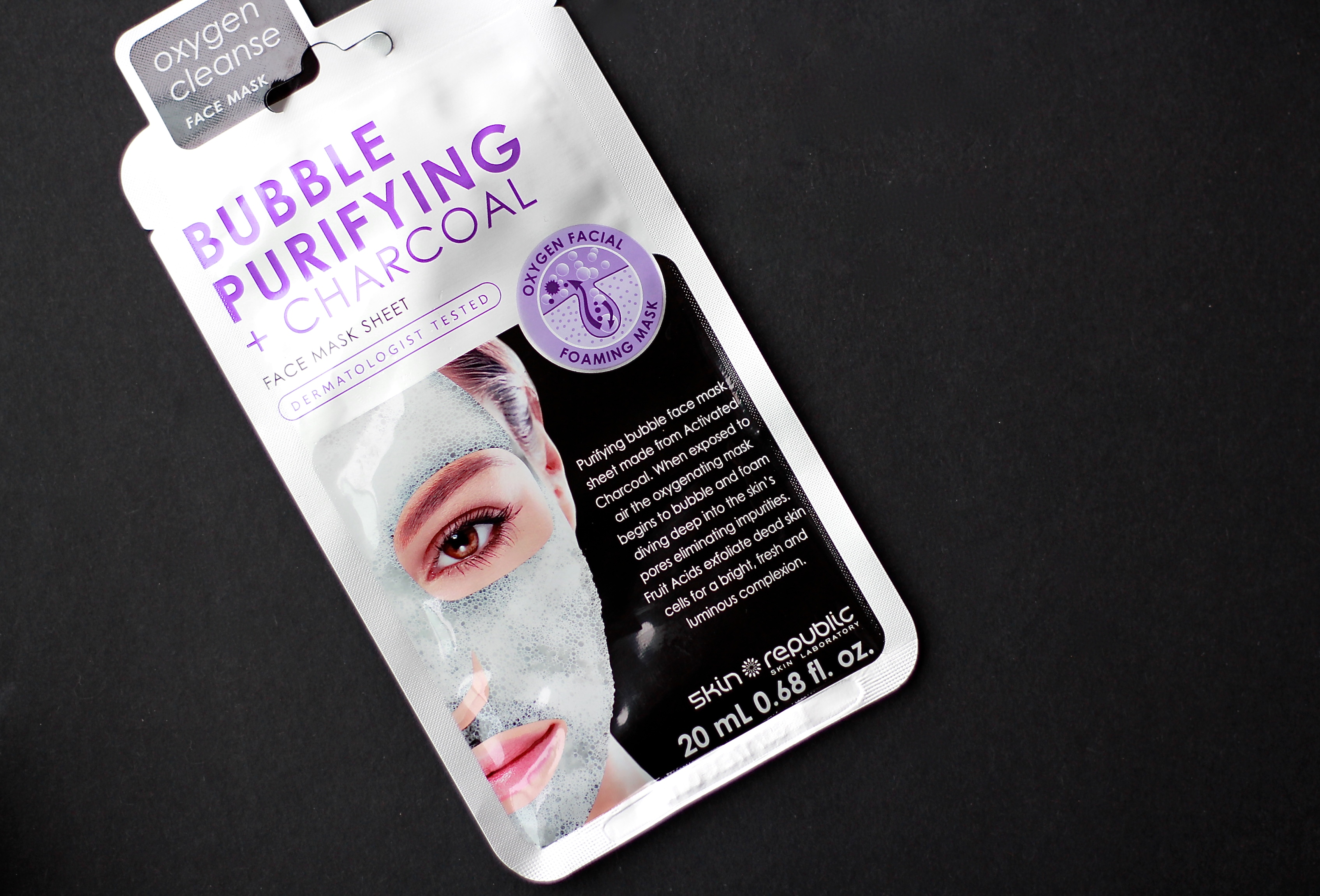 SKIN REPUBLIC Bubble Purifying + Charcoal Face Mask