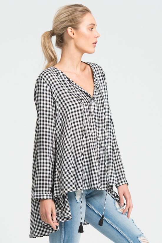 Bohemian Traders Laid back Gingham shirt