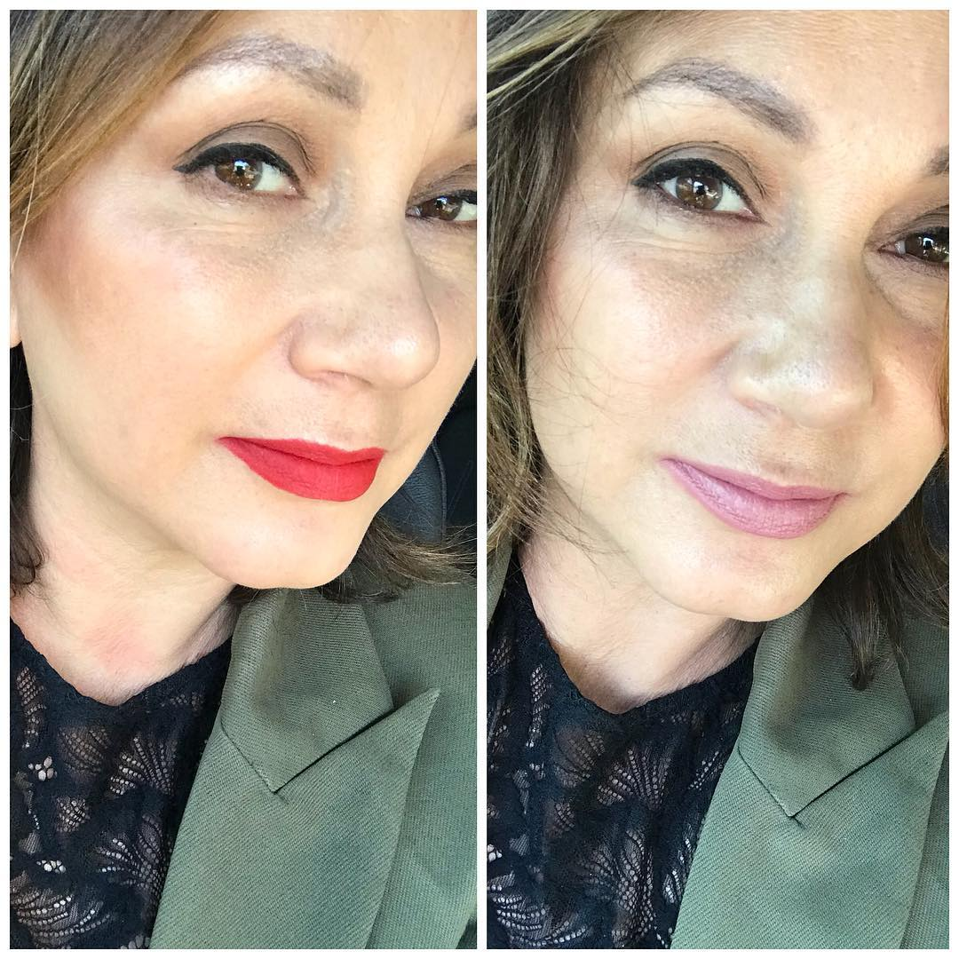 The difference a lippy makes I started off with maccosmeticshellip