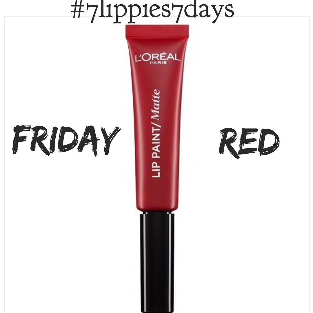 FRIDAY 7lippies7days  R E D   A killerhellip